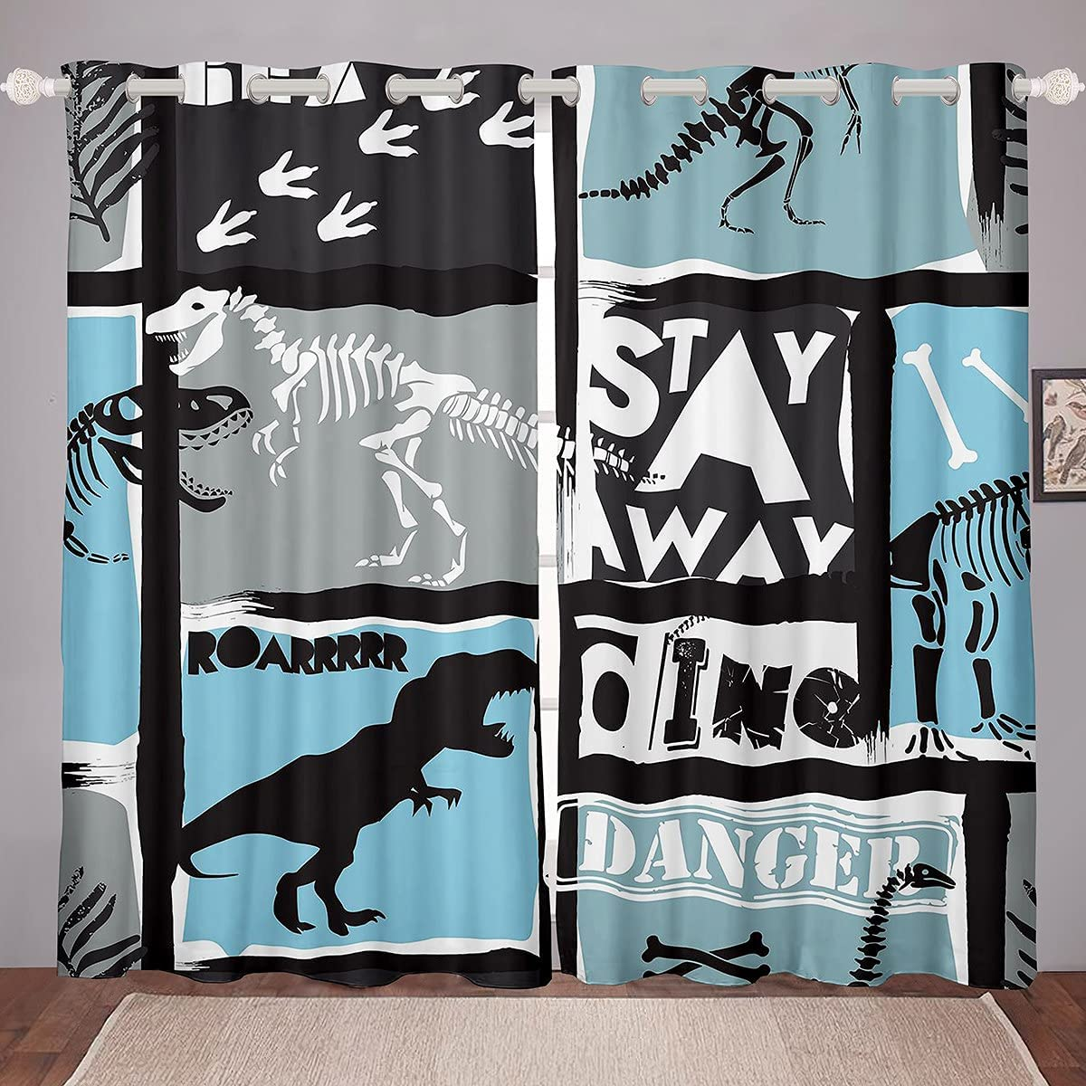 Feelyou Dinosaur Curtains for Kids Animals Jungle Boys Selling and selling Children Max 47% OFF