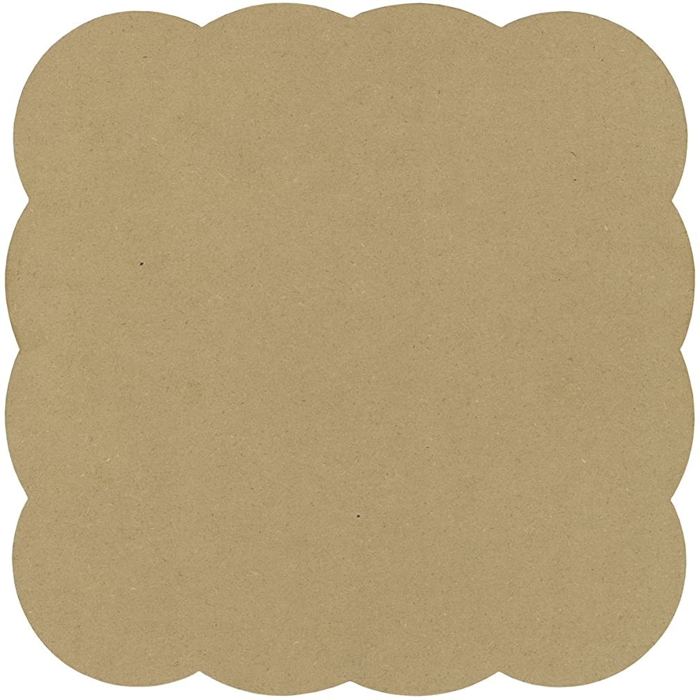 Adorn-It Art Play MDF Bubble Square Shaped Surface for Candle Making, 11