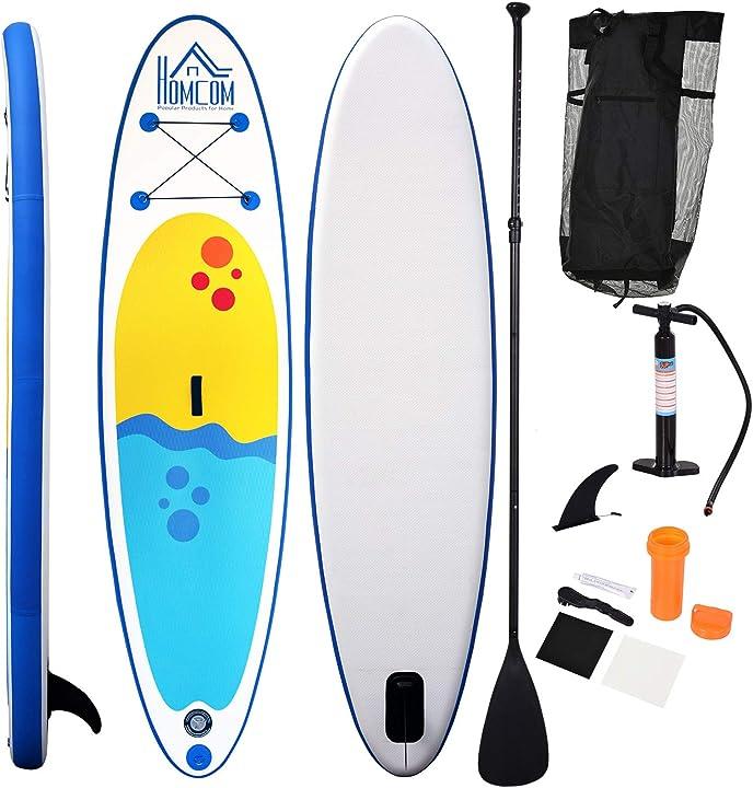 Tavola gonfiabile sup stand up paddle con pagaia regolabile tavola surf con accessori homcom ITA33-0080631