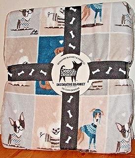 Berk Shire Dogs in Sweaters Fleece Blanket Lili Chin Doggie Drawings Queen Size