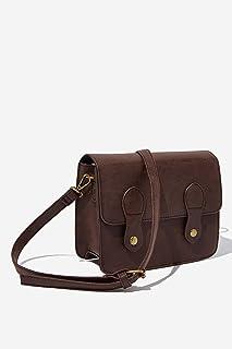Typo Mini Buffalo Women's Satchel Bag - Solid, Rich Tan