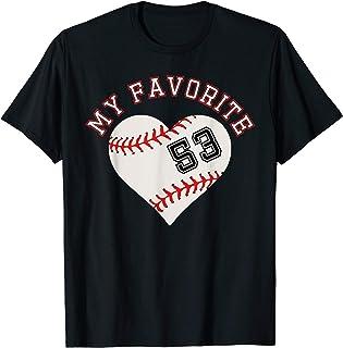 Baseball Spieler Trikot Nummer 53 T-Shirt Geschenk Sport T-Shirt