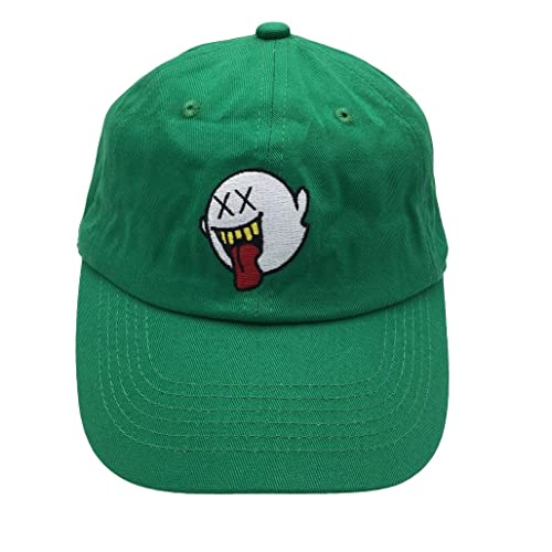 zhidan wei Distressed Boo Mario Ghost Baseball Cap 3D Embroidery Dad Hats  Adjustable Snapback 9fb899902306