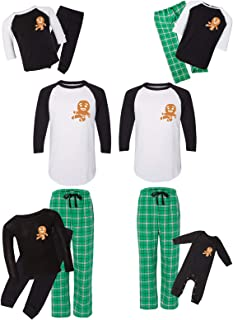 Awkward Styles Matching Christmas Pajamas Set Green Gingerbread Ninja Family Sleepwear