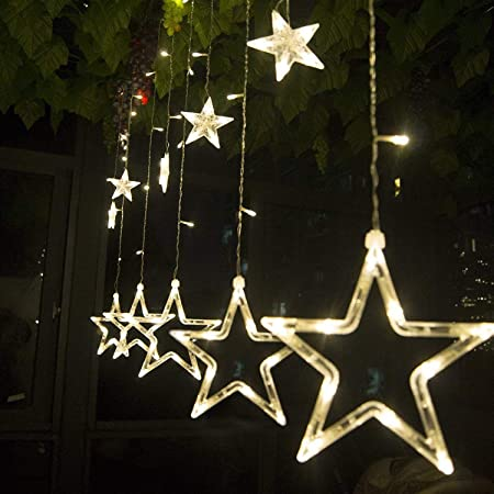 Salcar 138球USB式 2M*1M LEDイルミネーションライト 電飾 祝日 飾り付け 防水防雨仕様 窓飾り カーテンライト クリスマスライト リモコン付き ストリングライト