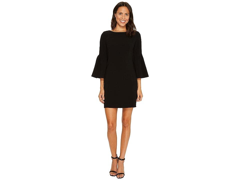 Laundry by Shelli Segal Crepe Shift Dress (Black) Women