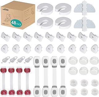 VACNITE 48 Piezas Kit de Seguridad para Bebes y Niños (12 Protectores Esquinas y Bordes, 4 Cerraduras Multifunción, 4 Cerr...