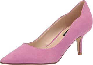 Nine West Women's Abaline Pump, Medium Pink Suede, 5