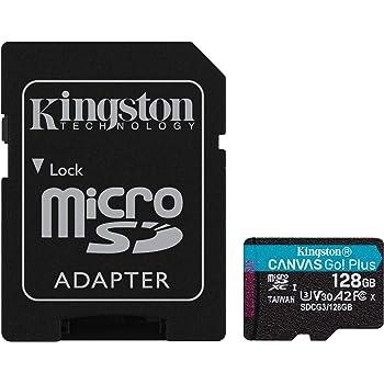 Kingston 128GB microSDXC Canvas Go Plus 170MB/s Read UHS-I, C10, U3, V30, A2/A1 Memory Card + Adapter (SDCG3/128GB)