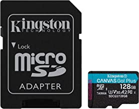 Kingston 128GB microSDXC Canvas Go Plus 170MB/s Read UHS-I, C10, U3, V30, A2/A1 Memory Card + Adapter (SDCG3/128GB)