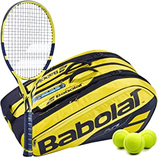 Babolat Pure Aero テニスラケットキットセット イエロー/ブラック ピュアエアロテニスバッグバックパック テニスボール付き
