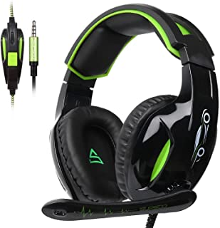 SUPSOO G813 Gaming Headset,Headphone with 3.5mm Jack Stereo Sound Over-Ear Headphone with Microphone Volume Control for New Xbox one PS4 PC Laptop Mac Mobile