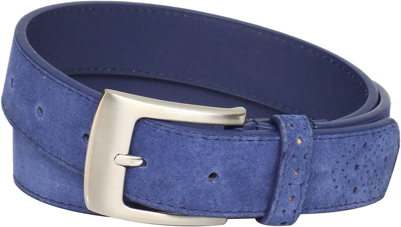 Stacy Adams Men's 32mm Genuine With Perforated Free shipping Belt Leather Cheap super special price Tip
