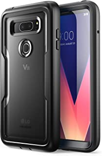 i-Blason Magma Series Case Designed for LG V30/V30 Plus/V30S (2017)/V35/V35 ThinQ 2017 Release, Heavy Duty Protection Shock Reduction Full Body Bumper Case with Built-in Screen Protector (Black)