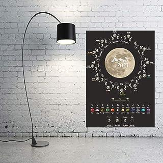 Calendario LUNAR 2021 España - Calendario Astrológico - Piedras para el horóscopo - Fases lunares