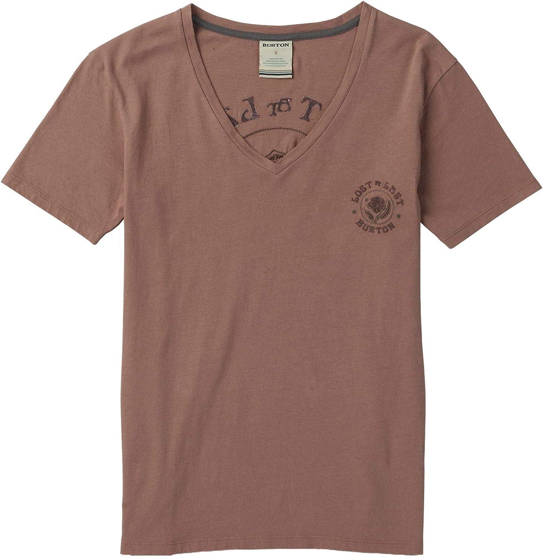 Burton Women's Keeler VNeck Short Sleeve TShirt, Antler, Large