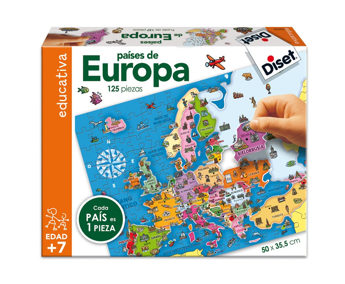 Diset Puzzle educativo para aprender los paises de Europa y sus ...