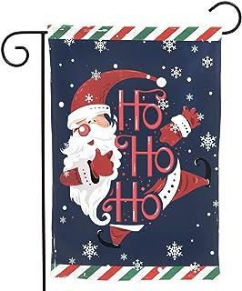Granbey Christmas Santa Claus Garden Flag - Welcome Garden House Flags with Ho Ho Ho Santa for Winter Xmas Holiday Decorat...