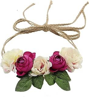 Floral Fall Flowers Maternity Sash Woodland Wedding Crown Halo Romantic Flowers Hair Wreath F-91