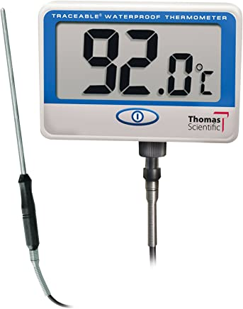 Control Traceable 6406 Extra-Extra Long-Probe Waterproof Thermometer,  -10°C to 110°C (14°F to 230°F) Range