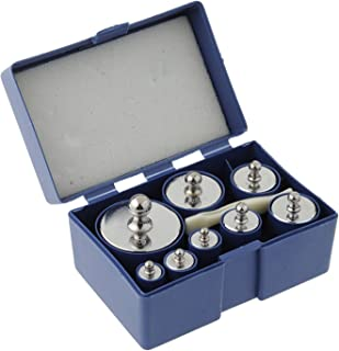 MAGIKON 8 Pieces 1000 Gram Stainless Steel Calibration Weight Set (500g 200g 2x100g 50g 20g 20g 10g) with Case and Tweezers for Digital Scale