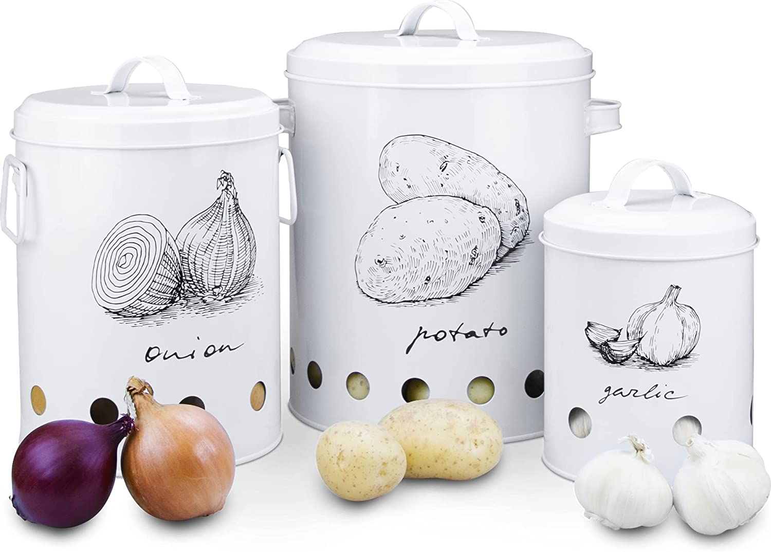 Farmhouse Canister Sets for Kitchen Home Rustic Max 57% OFF Counter Fort Worth Mall and Deco