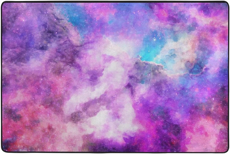 Vuelta de 10 dias My Daily Galaxy área púrpura Alfombra 4 x 6 6 6 pies, salón Dormitorio Cocina Decorativo  tienda de venta