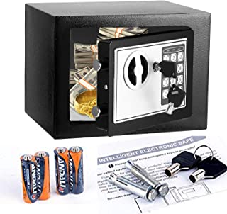 Aceshin Digital Electronic Safe Security Box with Keypad, 2 Keys-Protect Money, Jewelry, Passports-for Home, Business or Travel