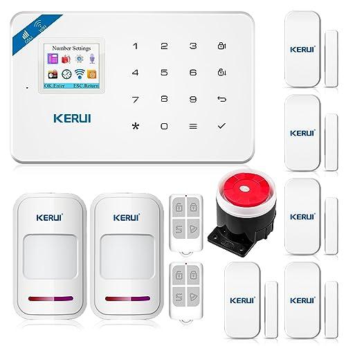 KR-W18 WiFi GSM SMS APP Télécommande Système d'alarme de sécurité Accueil, Détecteur de Ouverture Porte Fenêtre