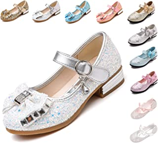 fc1246239786 Kikiz Little Girl s Adorable Sparkle Mary Jane Princess Party Dress Shoes