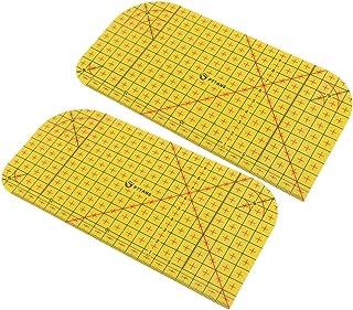 Régua de medição para passar a quente da Nuobesty, 2 peças, régua de calor para colchas, passar a vapor, resistente ao cal...