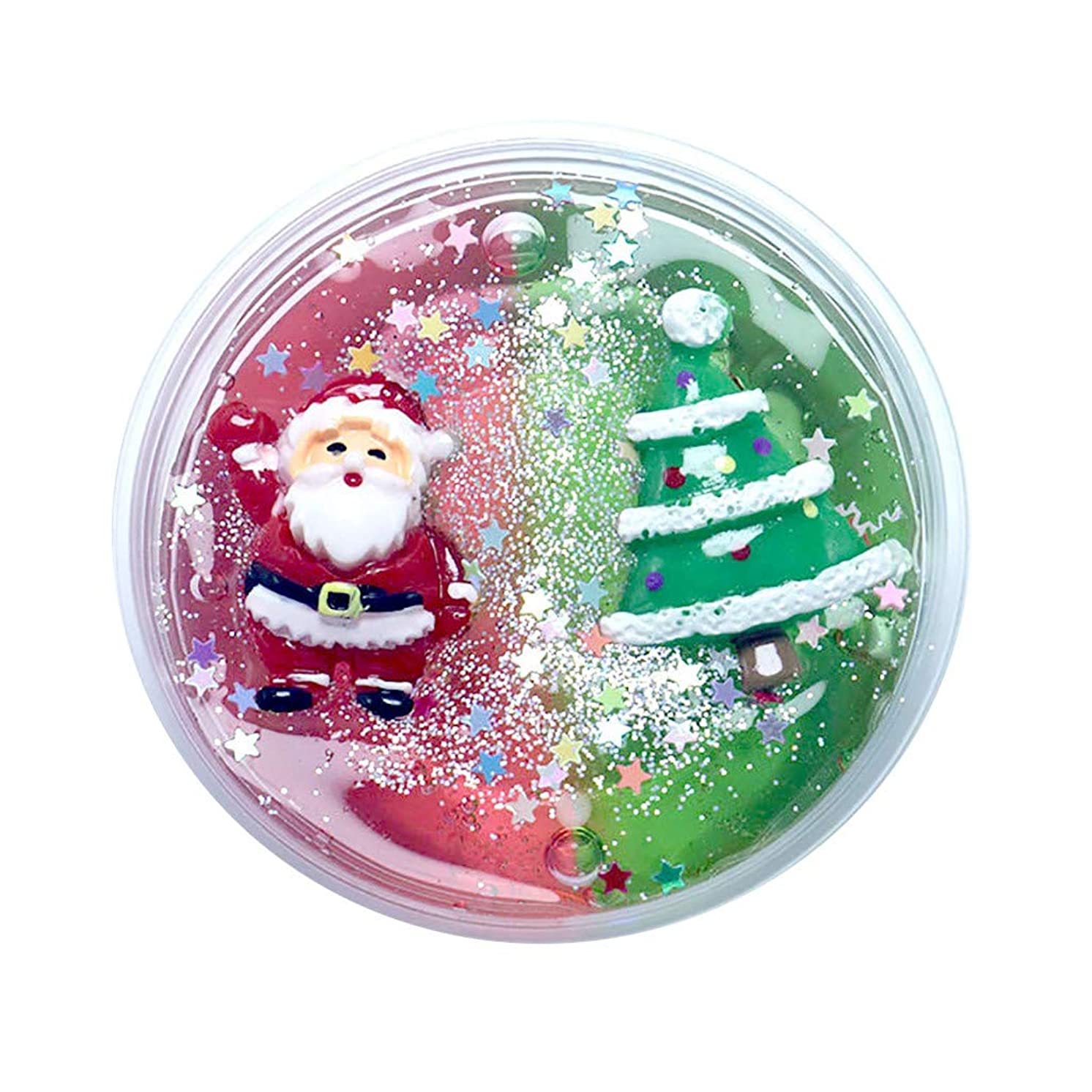 UOFOCO Christmas Slime Scented Charm Soft Mud Stress Relief Kids Clay Toys Xmas A