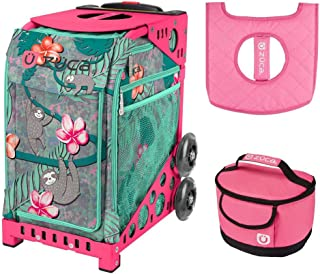 ZUCA Peek a Boo Friends Sport Insert Bag with Pink Frame, Gift Lunchbox & Seat Cushion