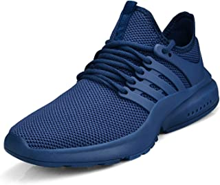 Feetmat Women's Running Shoes Lightweight Non Slip Breathable Mesh Sneakers Sports Athletic Walking Work Shoes Blue Size: 6