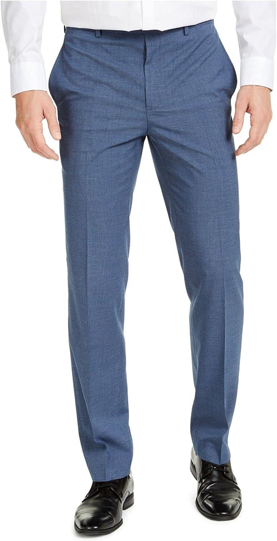 Ralph Lauren Mens Navy Printed Classic Fit Stretch Pants 32W/ 32L