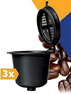 TronicXL - Cápsula para Rellenar (3 Unidades, Compatible con máquinas Nespresso, cafeteras de café, cafeteras de cápsulas, cafeteras delonghi, etc.)