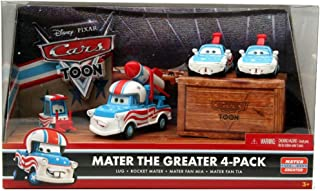 Disney / Pixar CARS TOON 155 Die Cast Car Mater The Greater 4Pack Lug, Rocket...