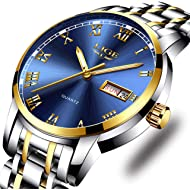 Watches,Mens Full Stainless Steel Luminous Quartz Watch Fashion Casual Business Dress Wristwatch...