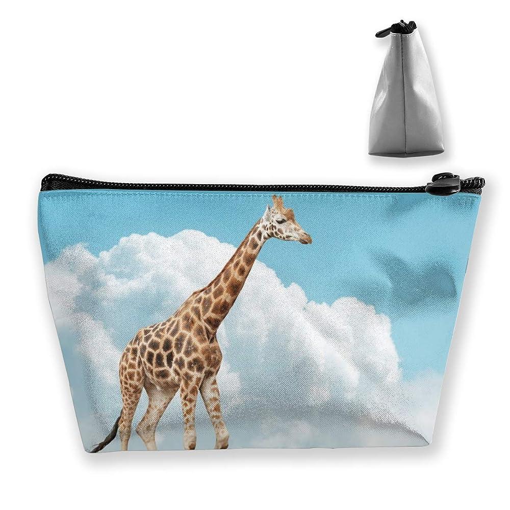 キリンのバランス ペンケース文房具バッグ大容量ペンケース化粧品袋収納袋男の子と女の子多機能浴室シャワーバッグ旅行ポータブルストレージバッグ
