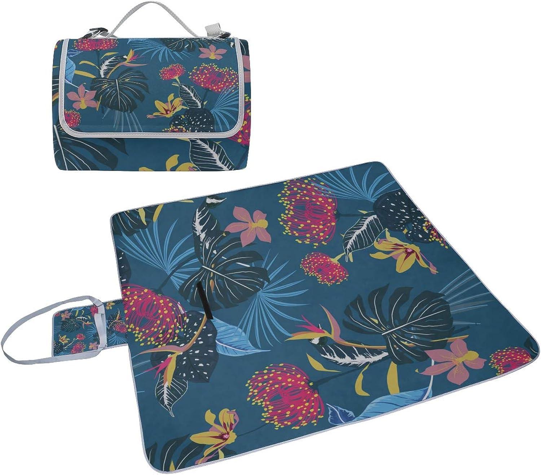 Velvet Cloth Picnic Blanket for Women Spring Flowers Romantic Vintage Beach Mat Velvet Cloth Foldable with Handle Outdoor Blanket Unisex Camping Rv Outings 57 x59