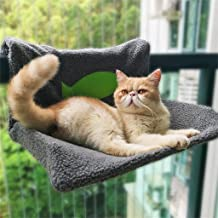 A-O Akusixnio Cat Radiator Bed Cat Railing Perch Hammock Warm Fleece Bed for Cat Puppy Kitten Dog Pet