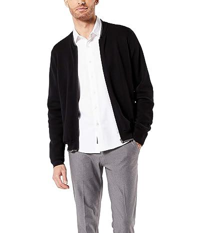 Dockers Full Zip Bomber Sweater Jacket (Mineral Black) Men