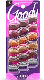 Goody Women's Classics Mini Bow Tie Claw Clip, 18 Count (Pack of 1)