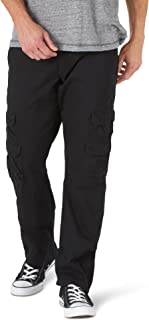 Wrangler Authentics Men's Straight Leg Cargo Pant, Black, 36W X 32L
