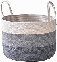 Cotton Rope Woven Basket Large Capacity Clothing Storage Basket Toy Sundries Classification Basket