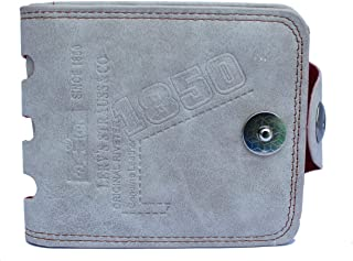 AlexVyan Bovi's White Stylish Bi Fold Wallet Men's Gents Boy's Wallet Purse