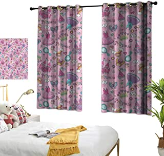 Davishouse Light Luxury high-end Curtains Dresses Castle Rainbows Privacy Protection 55