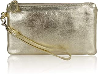 Befen Women's Leather Wristlet Clutch Wallet, Smartphone Wristlet Purse Signature Wallet