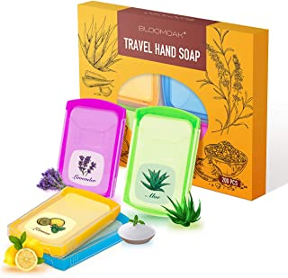 200pcs Portable Travel Hand Washing Paper Soap Sheets Antibacterial Skin Friendly Disposable Water Soluble, Great for Camping, Hiking Outdoor