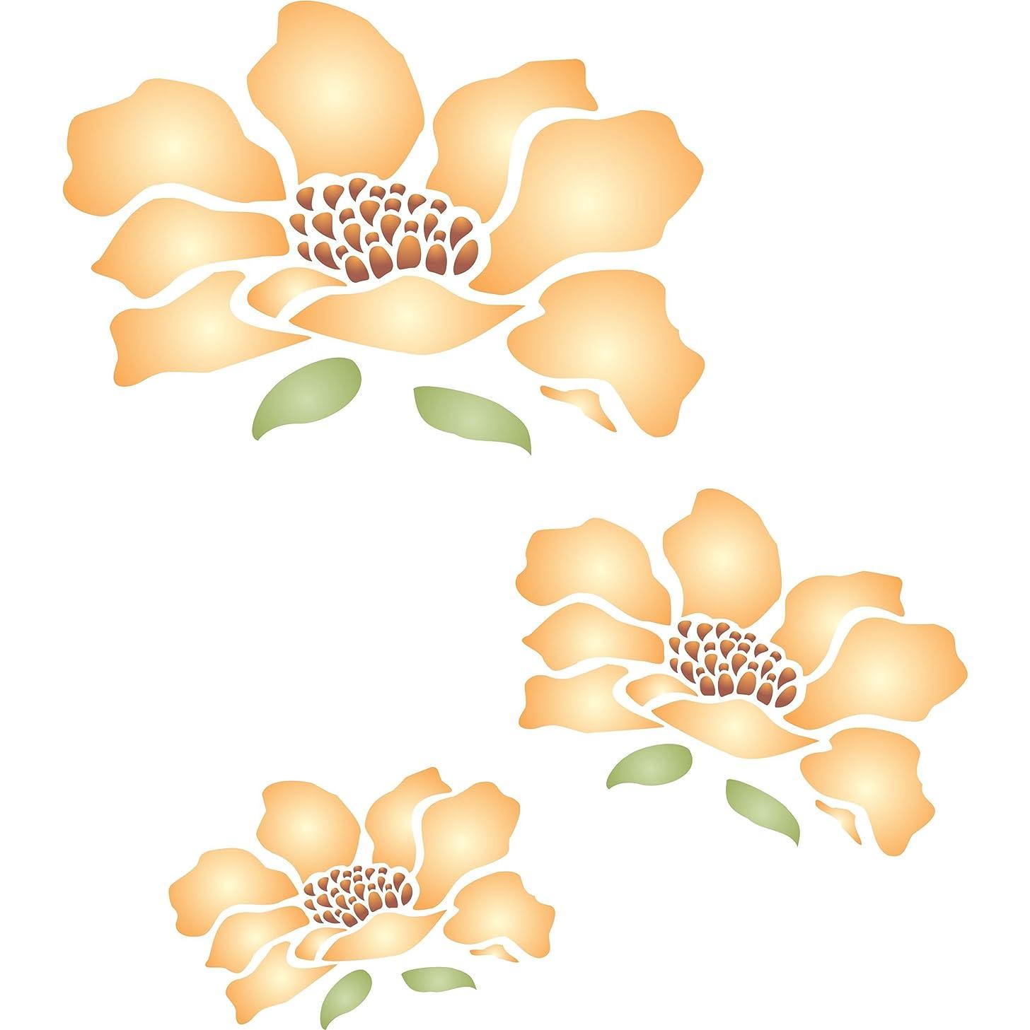 Flower Mural Stencil - (size 14